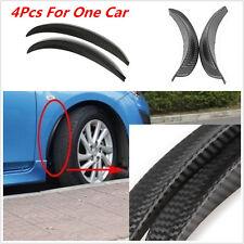 4Pcs Black Fender Flares Anti-scratch Wheel Eyebrow Protector Sticker Strip 33cm