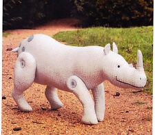 PATTERN - Dozer the Rhinoceros - fabric rhino softie/toy PATTERN for beginners