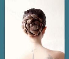 Wedding bridal hairpiece ballet hair bun cover Chignon updo hair extension wig