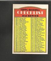 1972 Topps # 251 Unmarked Checklist Ex-Mt