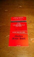 Vintage Morden Motor Hotel Motel Sauna Manitoba Canada Vintage Matchbook Cover