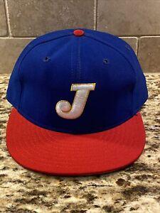 RARE! Vintage Defunct Logo J MiLB? MLB? Fitted 7 1/2 Hat Cap New Era Pro Model