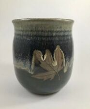 Alewine Pottery Leaf Vase 2009 Smokey Mountain Pottery Tennessee Pottery