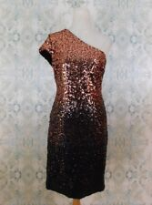 NWT Dress The Population Black Copper Sequined One Shoulder Dress XL