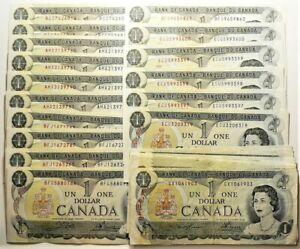 1973 Canada $1 Dollar Lot of 29 A few Short Runs of Consecutives #12227