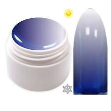 Trendfarbe Thermo Farbgel UV Gel Farbwechsel Dunkel Blau - Weiß  5ml TG-14