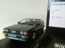 WOW EXTREMELY RARE Audi Quattro B2 1981 Green Black Seat 1:43 Minichamps-RS4/RS6