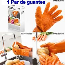 1 Par de Guantes Limpiadores para pelar patatas,Verduras y Fruta,zanahorias,etc