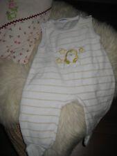 Nicki Strampler Babywalz Baby Gr. 56 Erstausstattung Schlafanzug gelb weiss