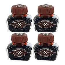 Thornton's Luxury Goods Fountain Pen Ink Bottle, 30ml, Pack of 4 - Brown