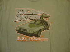 Back to the Future 1.21 Gigowatts! Quote DeLorean Car Soft Thin Green T Shirt M