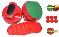 Air Hockey Red Replacement Pucks & Slider Pusher Goalies for Game Pro-Series