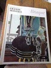Braque art book grands peintres chef-d'oeuvre de l'art Braque 12 livres Hachette