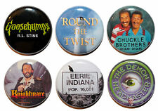 """1"""" (25mm) 90's Kids TV Shows Button Badge Pins - High Quality -MADE IN UK"""