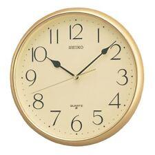 SEIKO QUARTZ WALL CLOCK WITH ARABIC NUMERALS GOLD (MODEL NO. QXA001G)