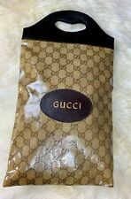 Gucci Italy Vintage Supreme Small Shopping Tote Lunch Sandwich Bag Purse