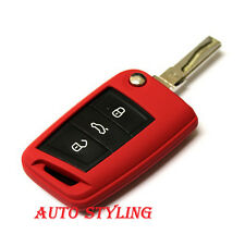 Red Key Cover For Seat Leon Case Remote Fob Protector 3 III MK3 5F SC ST 40r