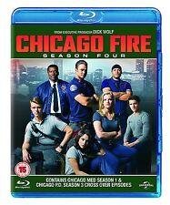 CHICAGO FIRE Stagione 4 Serie Completa BOX 6 BLURAY in Inglese NEW .cp