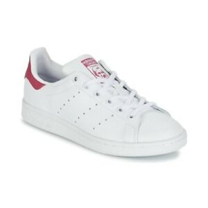 Scarpe ADIDAS ORIGINALS STAN SMITH J Bianco Rosa Sneakers Sportive Bambina Donna