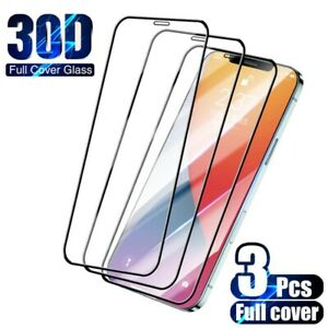3PCS Full Cover Protective Glass for iPhone X XS XR Plus Screen Protector Glass