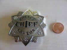 Sheriff Stern  Abzeichen  Canton Police Chief  mit ZERTIFIKAT