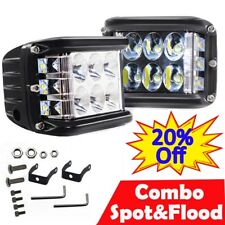 "4"" Inch 108000LM LED Work Indicators Light Car Spot Flood Bar Fog Lamp Jeep SUV"