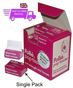 Pollie Pop Tissues Perm End Papers Individual 200 Sheet Box  Salon / Home use