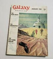 Vintage GALAXY Science Fiction Pulp Digest Magazine- August 1961 The Moon Moth