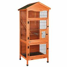 AVIARY INDOOR & OUTDOOR BIRD HOUSE HUTCH CAGE FOR SMALL BIRD PARAKEETS & FINCHES