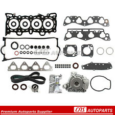 Fit Head Gasket Set Timing Belt Water Pump Kit 96-00 Honda Civic D16Y5/Y7/Y8