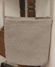 The Sak small beige crochet crossb