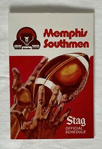 1974 Memphis Southmen / Grizzlies Stag Beer Vintage WFL Football Schedule - NICE