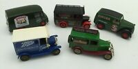 5 x Collectable Lledo  Vans Trucks Models Advertising Singer Walkers Boots Etc