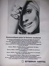 PUBLICITÉ 1968 MONTRE ETERNA MATIC GOLDEN HEART SAHIDA KON TIKI - ADVERTISING
