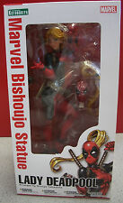 "Marvel Bishoujo PVC Statue 1/7 Lady Deadpool Kotobukiya 9"" Action Figure Boxed"