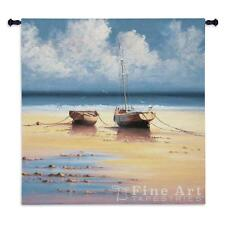 "Restful Moorings Nautical Wall Tapestry - Boats Picture 53""x53"""