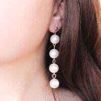 Perlen Ohrstecker Chandelier-Ohrringe Ohrgehänge Ohrringe Lang Gold