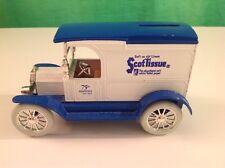 Scot Tissue 75th Anniversary Die Cast ERTL 1917 Model T Van Toilet paper bank