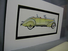 1934 Packard  from Artist Auto Museum  Full color Illustrated not a photo