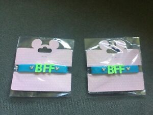 NEW lot of 2 BFF Disney Mickey Mouse jelly bracelets turquoise & green