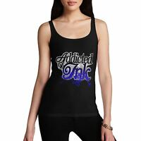 Twisted Envy Women's Cotton Funny Addicted To Ink Tank Top
