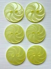 Pack of 6 Orange Slice Round Buttons in 2 Sizes and 12 Colours