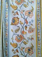 Sears Jacobean Floral Print 2 King Pillowcases Percale Gold Blue Rust Vintage