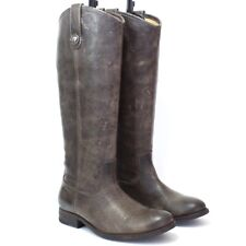 FRYE Riding Boots - Sz 6.5B - Melissa Button - Distressed Leather - Green/Brown
