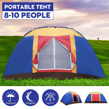 10 Person Portable Family Large Tent for Travel Camping Hiking Waterproof AU