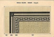 Stampa antica PAVIMENTO A MOSAICO Piastrelle Mattonelle C 707 1910 Antique print