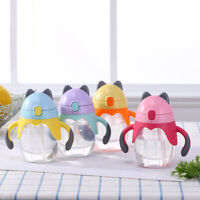 300ml Cute Cat Silicone Sippy Cup Baby Training Drinking Water Bottle Wide