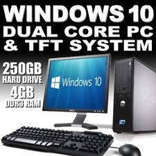 More details for full dell/hp dual core desktop tower pc & tft computer system windows 10 & 4gb