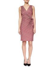 Diane von Furstenberg Medium Purple Dot Diamond DVF Bella S/L Dress $428 NWT 10