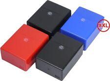 3 x Zigarettenbox XXL  Box farbig sortiert 40er stabilem Kunststoff Sprungdeckel